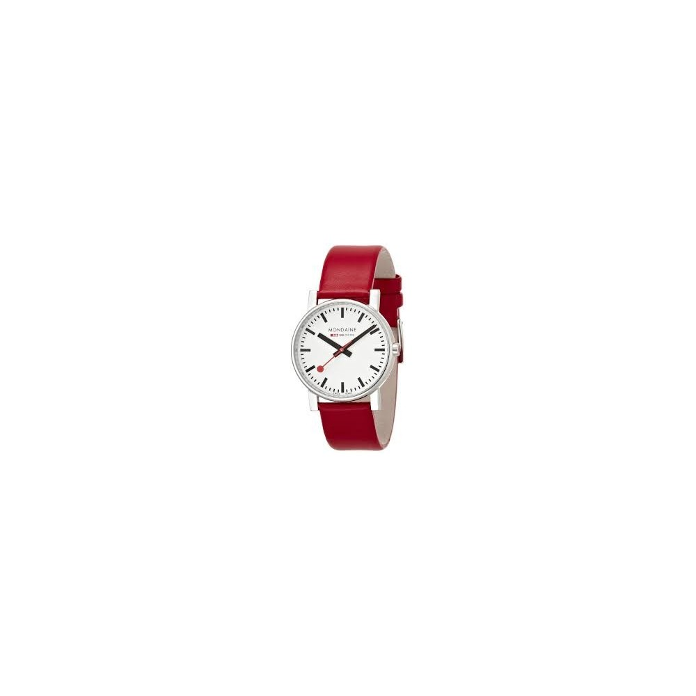 LADIES CLASSIC WATCH BRUSHED 30MM red strap